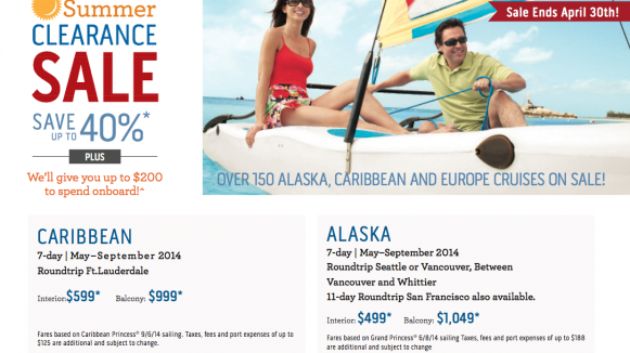 princess cruises website